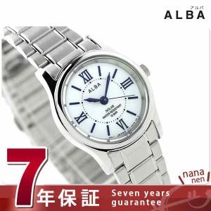 【あす着】セイコー アルバ ソーラー レディース AEGD554 SEIKO ALBA 腕時計 ホワイト