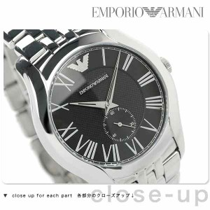 エンポリオ アルマーニ クラシック スモールセコンド AR1706 EMPORIO ARMANI メンズ 腕時計 ブラック