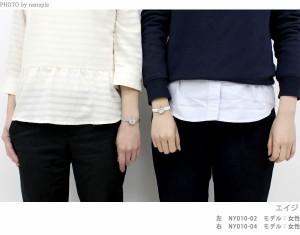 ニューヨーカー エイジ クオーツ レディース 腕時計 NY010.03 NEWYORKER ホワイト×ブラック