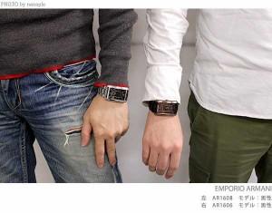 エンポリオ アルマーニ クラシック 腕時計 メンズ スモールセコンド ブラック EMPORIO ARMANI AR1608