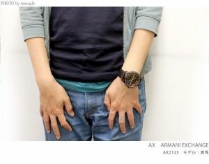 アルマーニ エクスチェンジ メンズ 腕時計 AX2150 AX ARMANI EXCHANGE スマート オールブラック×ローズゴールド