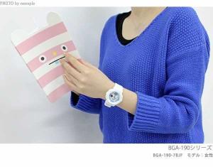 【あす着】Baby-G ビーチ・トラベラー・シリーズ レディース 腕時計 BGA-190-1BDR カシオ ベビーG クオーツ オールブラック×ピンク