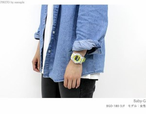 Baby-G Gライド クオーツ レディース 腕時計 BGD-180FB-7DR カシオ ベビーG ホワイト