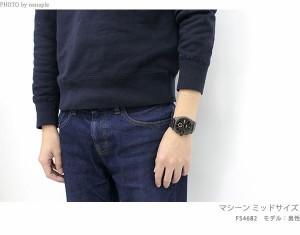 【あす着】フォッシル マシーン クロノグラフ メンズ 腕時計 FS4682 FOSSIL クオーツ ブラウン×ブラック