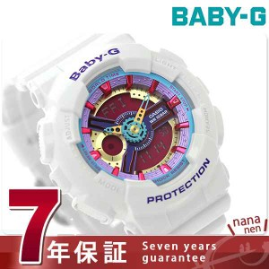 【あす着】Baby-G クオーツ レディース 腕時計 BA-112-7ADR カシオ ベビーG ピンク×ホワイト
