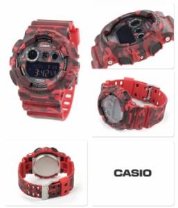 G-SHOCK カモフラージュシリーズ 限定モデル メンズ GD-120CM-4DR カシオ Gショック 腕時計 クオーツ ブラック×レッド