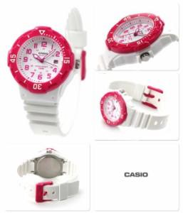 【あす着】カシオ チプカシ 海外モデル デイト クラシック LRW-200H-4BVDF CASIO 腕時計 クオーツ ホワイト×ピンク