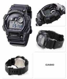 カシオ チプカシ バイブレーションアラーム 海外モデル メンズ W-735H-1AVCF CASIO 腕時計 クオーツ ブラック