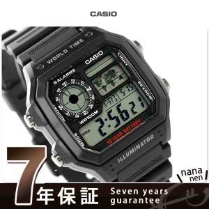 カシオ チプカシ クオーツ 海外モデル メンズ 腕時計 AE-1200WH-1AVDF CASIO ブラック