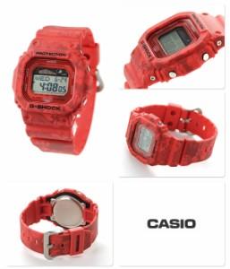 【あす着】G-SHOCK Gライド ムーンデータ メンズ 腕時計 GLX-5600F-4DR カシオ Gショック レッド×花柄