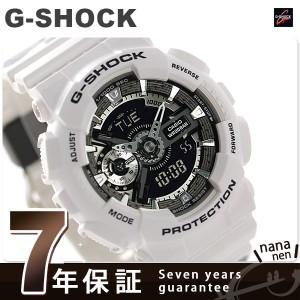 G-SHOCK S シリーズ クオーツ メンズ 腕時計 GMA-S110F-7ADR カシオ Gショック ブラック×ホワイト