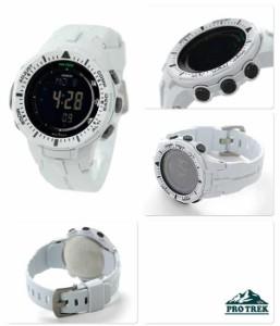 カシオ プロトレック ソーラー トリプルセンサー PRG-300-7DR CASIO PRO TREK 腕時計 ブラック×ホワイト