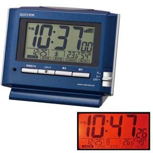 クロック リズム 置時計 電波 アラーム 8RZ164SR11 RHYTHM