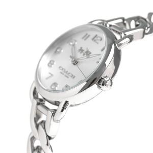コーチ デランシー 28mm クオーツ レディース 腕時計 14502259 COACH シルバー