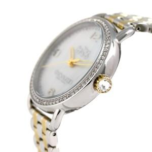 【あす着】コーチ デランシー 36mm クオーツ レディース 腕時計 14502484 COACH ホワイトシェル×ゴールド