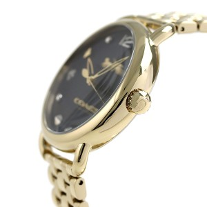 【あす着】コーチ デランシー 36mm チャームダイヤル レディース 14502813 COACH 腕時計 ブラック×ゴールド