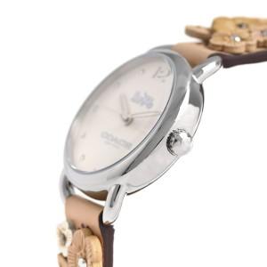 【あす着】コーチ デランシー 28mm 花柄 革ベルト レディース 腕時計 14502873 COACH