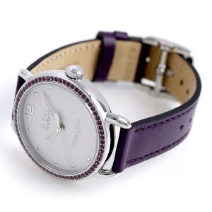 コーチ デランシー 36mm パープルストーン レディース 14502886 COACH 腕時計 革ベルト