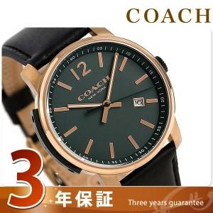 【あす着】コーチ ブリーカー 42mm クオーツ メンズ 腕時計 14602006 COACH グリーン×ブラック