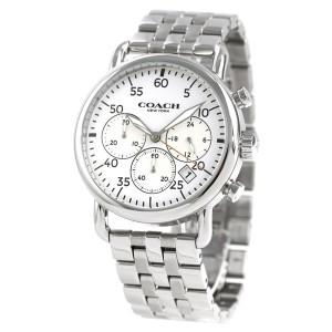 コーチ デランシー クロノグラフ 42mm メンズ 腕時計 14602136 COACH ホワイト