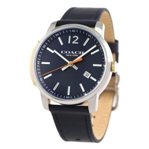 【あす着】コーチ ブリーカー デイト 42mm 革ベルト メンズ 腕時計 14602343 COACH ネイビー
