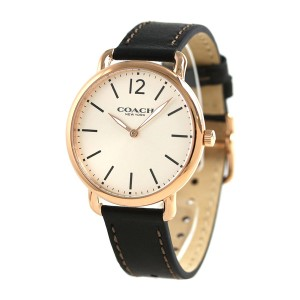 【あす着】コーチ デランシー スリム 40mm 革ベルト メンズ 腕時計 14602347 COACH シルバー