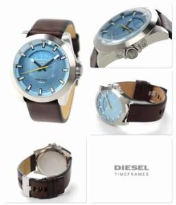 ディーゼル DIESEL アージェス メンズ 腕時計 DZ1661 クオーツ ブルー×ダークブラウン レザーベルト