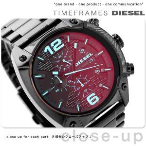 ディーゼル DIESEL オーバーフロー クロノグラフ クオーツ DZ4316 メンズ 腕時計 ブラック
