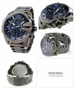 ディーゼル DIESEL メンズ 腕時計 クロノグラフ メガチーフ DZ4329 クオーツ ブルーグレー×ガンメタル