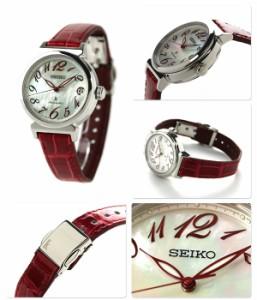 【ノート付き♪】セイコー ルキア 自動巻き レディース 腕時計 SSVM015 SEIKO LUKIA 綾瀬はるか ホワイトシェル×レッド