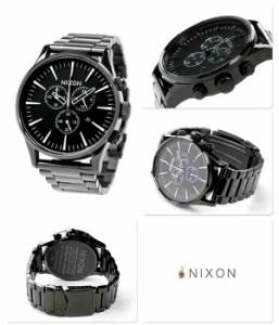 ニクソン セントリー クロノ クオーツ メンズ 腕時計 A386001 nixon A386 オールブラック