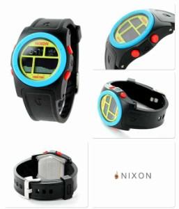 ニクソン nixon リズム クオーツ メンズ 腕時計 A3851935 NIXON ブラック/ブルー/シャルトリューズ