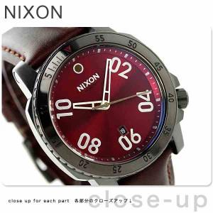 ニクソン nixon レンジャー レザー メンズ 腕時計 A5082073 nixon ガンメタル/ディープ バーガンディ