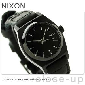 【あす着】ニクソン スモール タイムテラー レザー レディース 腕時計 A5092053 NIXON ブラック ウーヴン