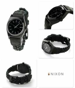 ニクソン スモール タイムテラー レザー レディース 腕時計 A5092053 NIXON ブラック ウーヴン