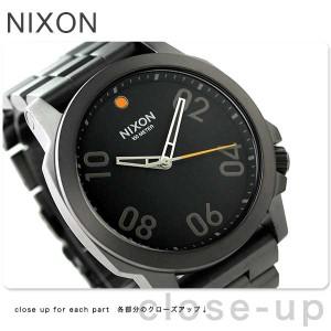 ニクソン nixon レンジャー 45 クオーツ メンズ 腕時計 A5211531 nixon ガンメタル/ブラック