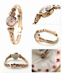 アナスイ 限定モデル レディース 腕時計 FCVK308 ANNA SUI クオーツ ピンク×ピンクゴールド