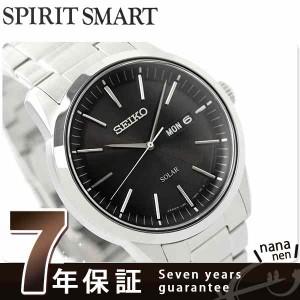 【あす着】セイコー ソーラー スピリットスマート メンズ 腕時計 SBPX063 SEIKO SPIRIT SMART ブラック