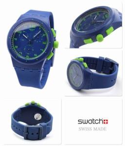 スウォッチ クロノ スイス製 腕時計 クロノグラフ ブルー×グリーン Swatch SUSN400