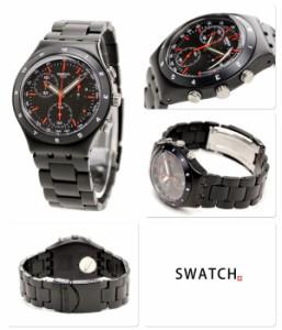 【あす着】Swatch スウォッチ スイス製 腕時計 カモフラージュ ブラックコート YCB4019AG
