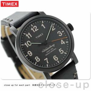 タイメックス ウォーターベリーコレクション メンズ 腕時計 TW2P59000 TIMEX クオーツ オールブラック レザーベルト