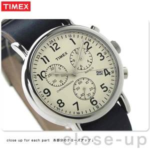 タイメックス ウィークエンダー 40mm クロノグラフ TW2P62100 TIMEX メンズ 腕時計 クオーツ アイボリー×ネイビーグレー