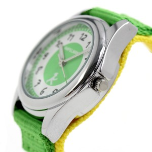 アンペルマン キッズ 子供用 腕時計 クオーツ AMA-2035-12 AMPELMANN ライトグリーン×イエロー