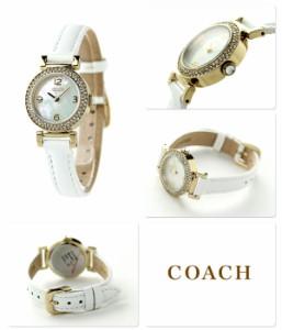 コーチ ニュー マディソン クリスタル レディース 腕時計 14501691 COACH ホワイトシェル×ホワイト