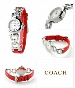 コーチ ウェイバリー レディース 腕時計 クオーツ 14501853 COACH シルバー×レッド