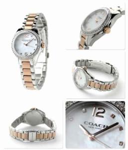 コーチ トリステン スモール クリスタル レディース 14502105 COACH 腕時計 ホワイトシェル×ピンクゴールド