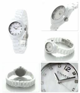 コーチ トリステン セラミック ブレスレット レディース 14502154 COACH 腕時計 マザーオブパール×ホワイト