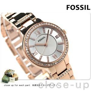 フォッシル バージニア レディース ES3284 クオーツ FOSSIL 腕時計 シルバー×ローズゴールド