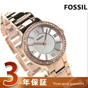 【あす着】フォッシル バージニア レディース ES3284 クオーツ FOSSIL 腕時計 シルバー×ローズゴールド