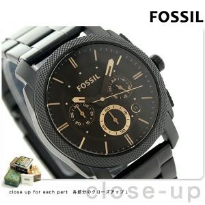 フォッシル マシーン クロノグラフ メンズ 腕時計 FS4682 FOSSIL クオーツ ブラウン×ブラック